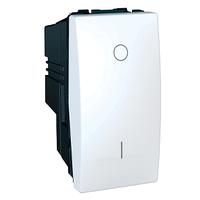 Выключатель кнопочный проходной 1-мод. Белый Unica Schneider, MGU3.162.18