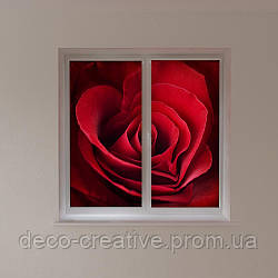 Рулонные фото шторы роза