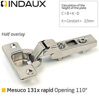 Петля полунакладная Indaux (Испани) Mesuco 131X rapid