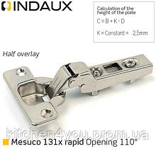 Петля полунакладная Indaux (Іспанії) Mesuco 131X rapid