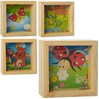 Деревянная игрушка Лабиринт Шарики, MD 1155, 006681