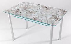 Стол стеклянный кухонный КТ 07