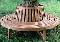 Скамья садовая, деревянная мебель для дачи Равенна со спинкой