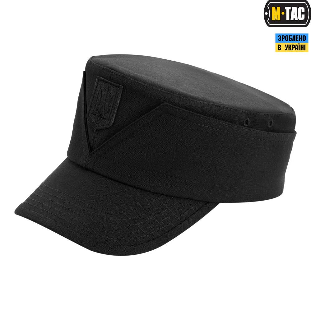 M-Tac кепка-мазепинка с гербом рип-стоп 100% Х/Б Black 56