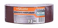 Шлифовальная лента, Шлифлента (76х533мм, Р80, 10шт) Sturm 9010-B76x533-080