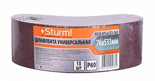 Шлифовальная лента, Шлифлента (75х457мм, Р24, 10шт) Sturm 9010-B76x533-060