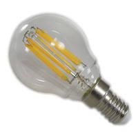 Лампа LED Шар прозрачная колба 6W 220V E14 желтый свет АВаТар