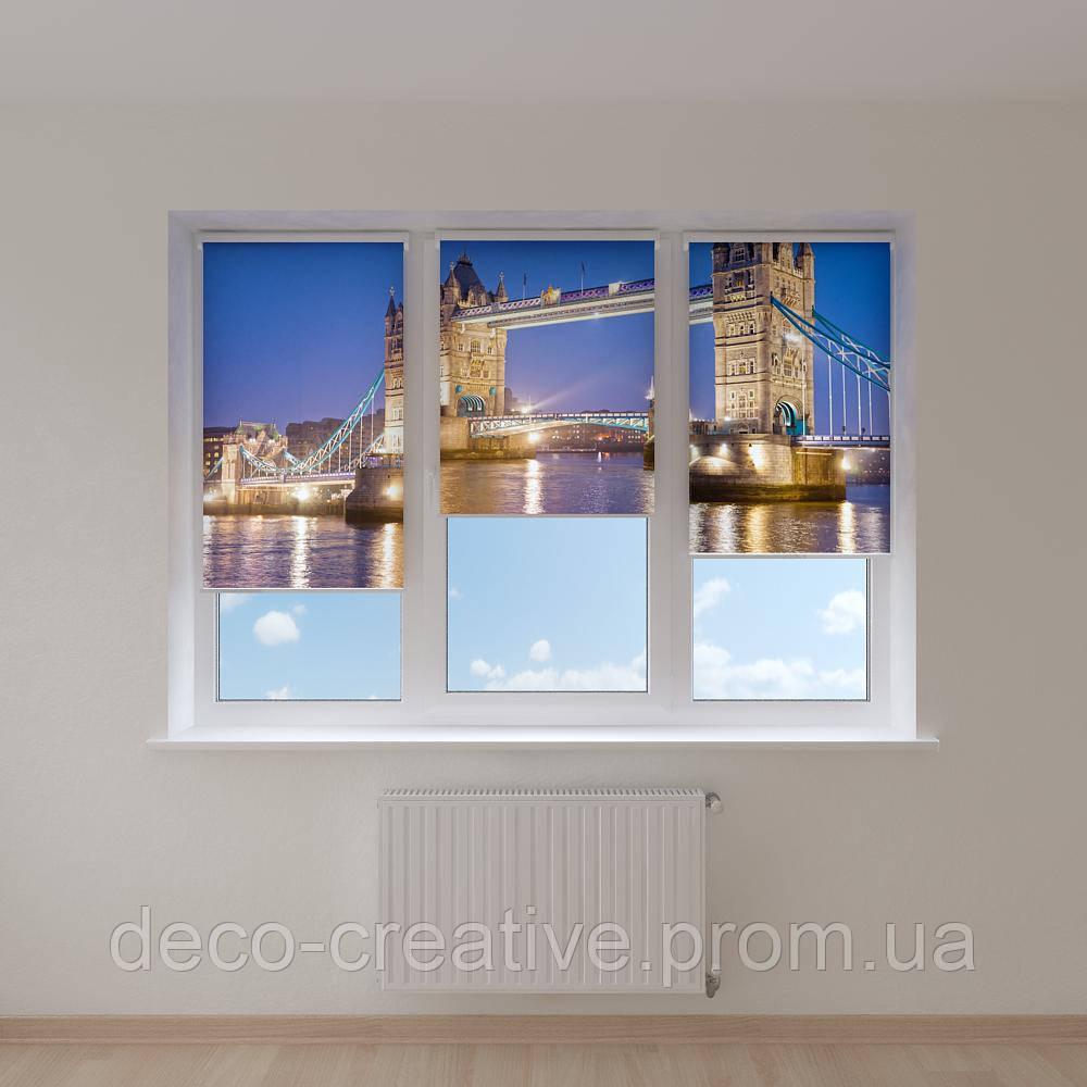 Рулонные фотошторы мост в Лондоне