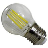 Лампочка светодиодная шар прозрачная колба 6W 220V E27 белый свет АВаТар ST 694