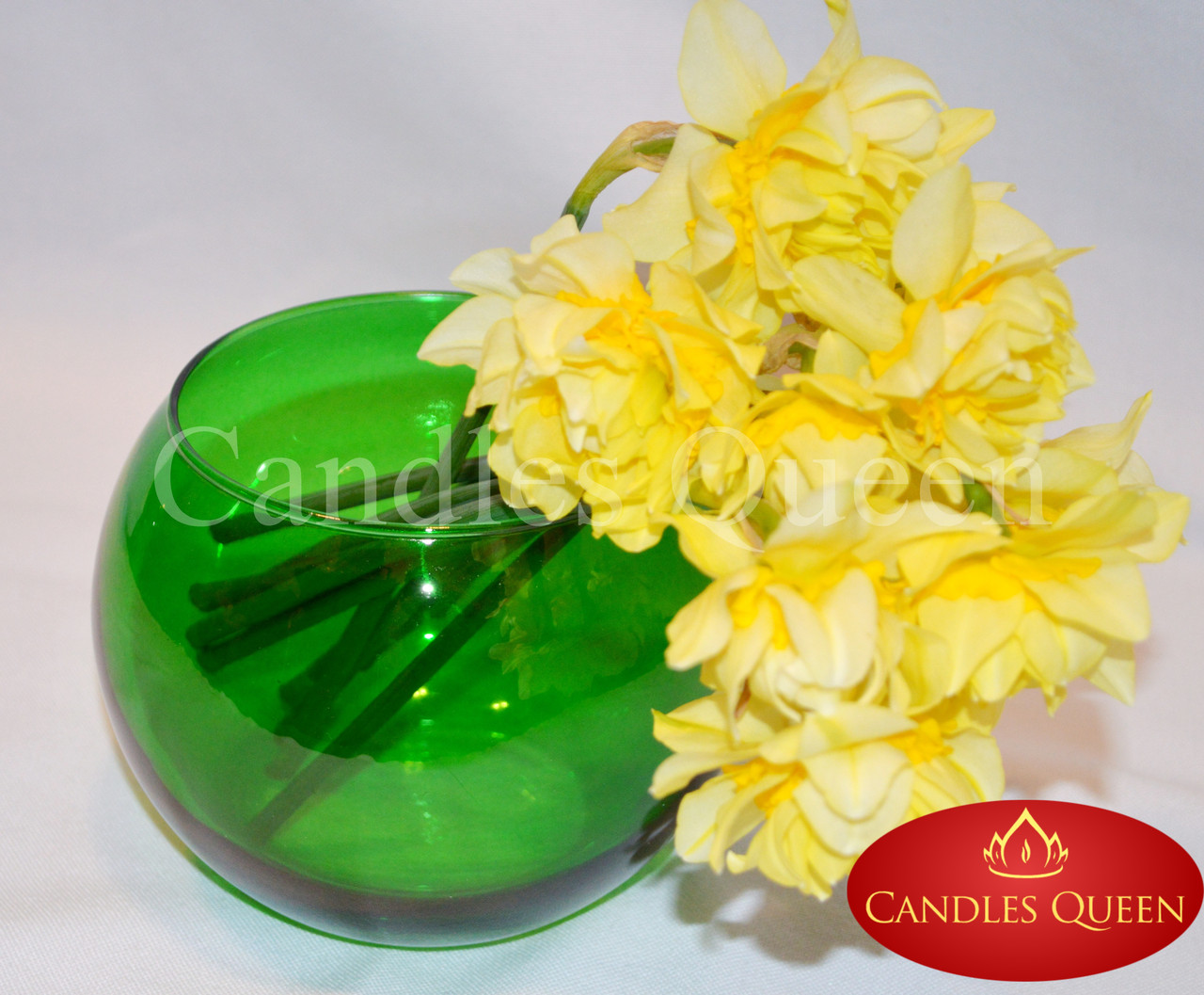 Ваза цветная шар 120х150 мм цвет зеленый