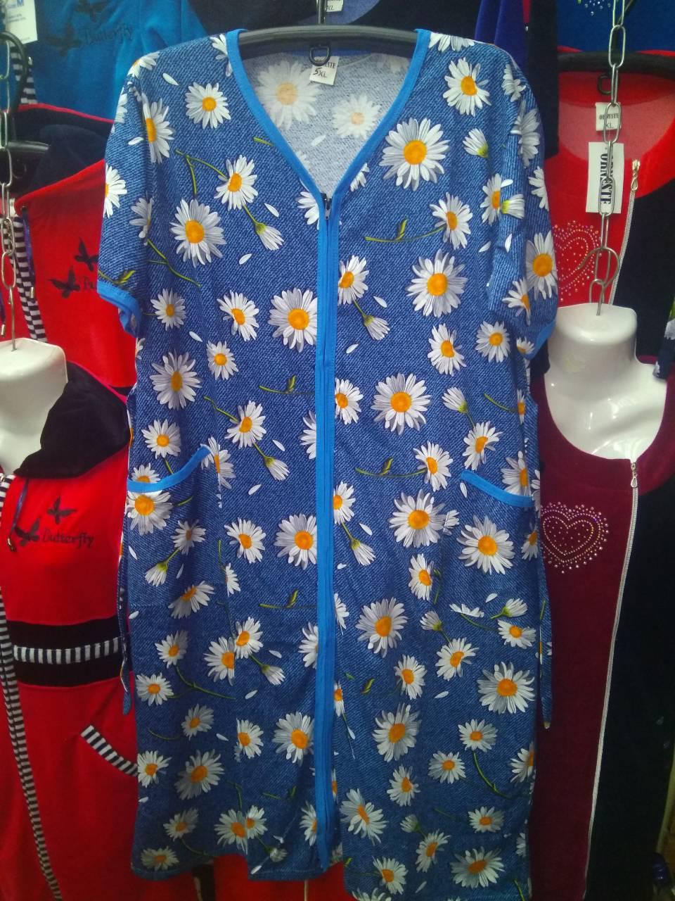 4bdf542b26265 Женский летний халат большого размера - Оптово-розничный магазин