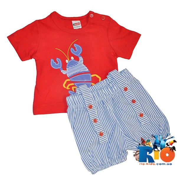 """Детский костюм-двойка """"Kumru"""" (лето),  для детей размер 6-9-12-18 мес (4 ед. в упак.)"""