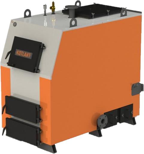 Промышленный твердотопливный котел отопления длительного горения Kotlant (Котлант) КВ 200