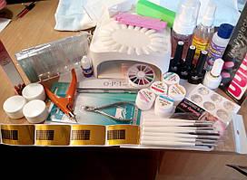 Стартовый набор для наращивания ногтей и покрытия гель-лаком полный