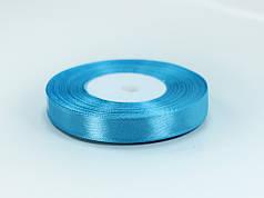 Лента атласная 10 мм голубая