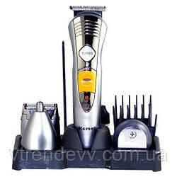 Машинка для стрижки волос триммер Kemei KM-580A 7 в 1