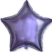 Шар фольгированный звезда лаванда металлик 46 см