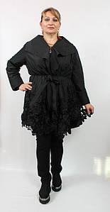 Очень красивый женский плащ Darkwin (Турция) 52-60р черный