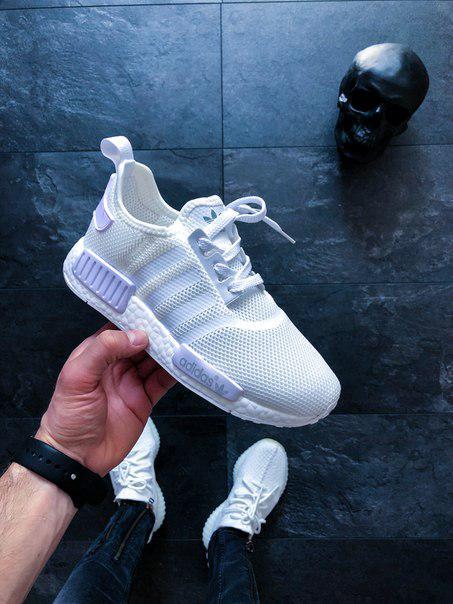 "Кроссовки мужские Adidas NMD_R1 ""Triple White"" топ реплика"