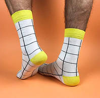 "Белые носки с черными линиями ""Мастер"". ТМ SOX"