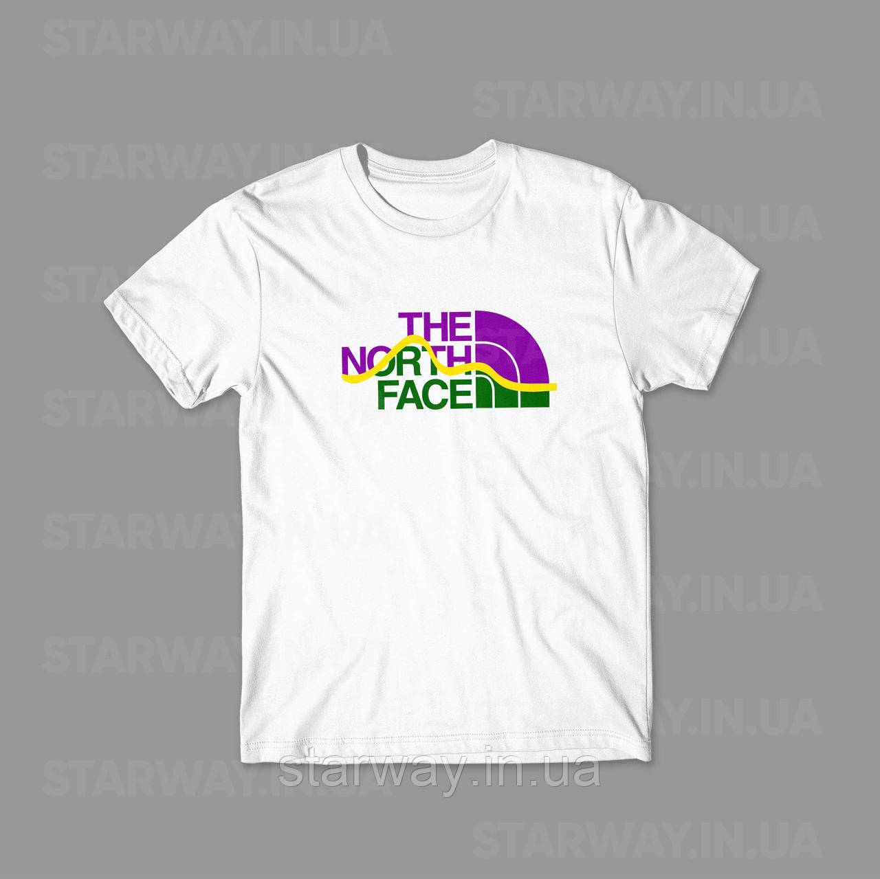 Футболка стильная The North Face mega logo