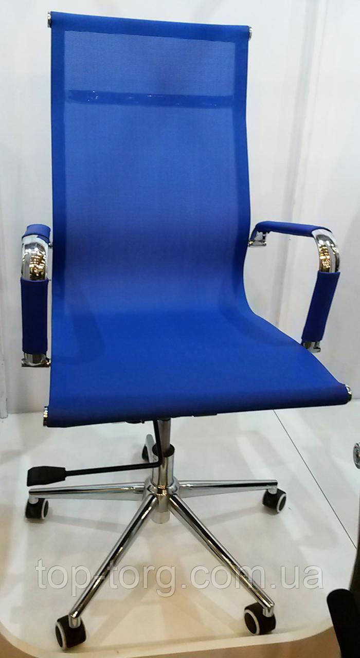 Кресло офисное, руководителя Solano mesh blue, синий