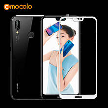Защитное стекло Mocolo Full сover для Huawei P20 Pro белый