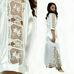 Красивый шелк-атласный халат