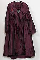 Оригинальный женский плащ с вышивкой Darkwin (Турция) 54-64р марсала