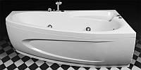 Правосторонняя аэромассажная ванна Rialto Como Aero 170x100 со смесителем