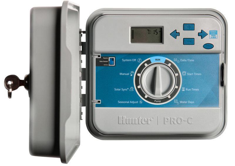 Программируемый таймер автоматического полива Hunter PCC-1201-E (12 зон, наружный)