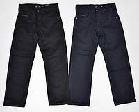 Детские утепленные школьные брюки для мальчиков 116,122 роста Черные