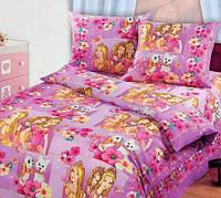 Полуторное подростковое постельное белье, Красавицы, бязь ГОСТ 100%хлопок
