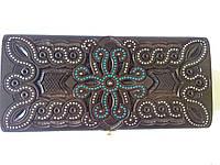 Шкатулка деревянная резьбленная с бисером (резная,рубленая)21*11*10, фото 1