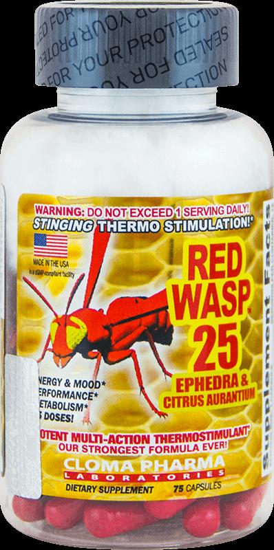 Cloma Pharma Red Wasp 75 caps