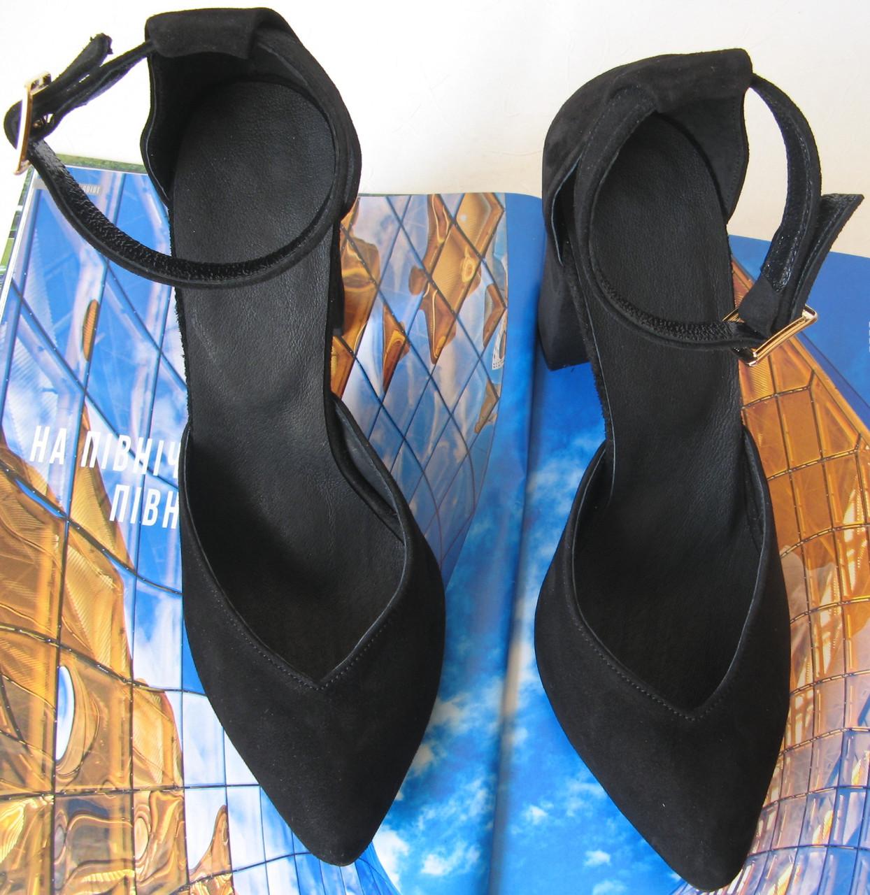 Mante! Красивые женские замшевые черные босоножки туфли каблук 10 см весна лето осень