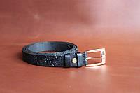 Женский ремень с пряжкой, ширина - 20 мм, цвет - черный, артикул СК 8024