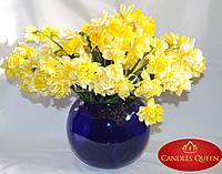 Ваза синяя стеклянная ваза шар 5 л 190х220 мм, фото 1