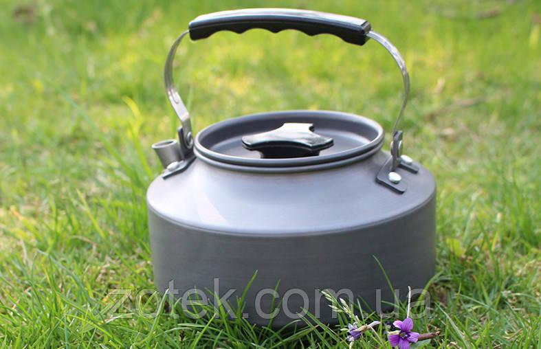 Чайник туристический походный 1,1 Литр анодированный алюминий, бакелит