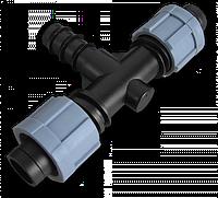 Тройник 2 x лента/ Соединитель для трубки 16мм, DSTA03-16L