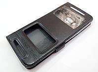 Чехол книжка с окошками momax для HTC One M9 черный