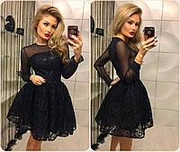 """Женское черное кружевное платье """"Одри"""""""