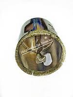 Алмазная коронка с алмазным центровочным сверлом по плитке керамограниту 40 мм