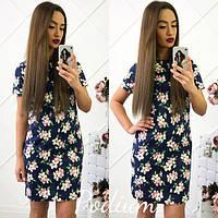 Красивое летнее платье с цветочным принтом тв-180422-2
