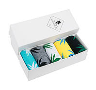 Подарочный набор унисекс носков HUF с листом конопли (5 пар, цвет на выбор) в фирменной коробке