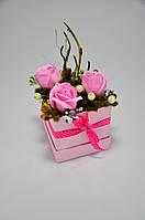 Цветы из мыла набор Розовый Лес Композиция Soap Flowers Pink Forest