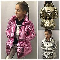 Детский стильный плащ для девочек бант 16141, фото 1