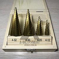 Набор сверл ступенчатых Falon Tech от 4 мм до 32мм HSS