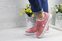 Женские кеды Converse All Star, (7 цветов), Розовые, Замша, Резина