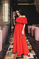 Платье вечернее в пол красное